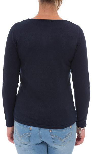 Anna Rose Cable Detail Knit Top Navy - Gallery Image 3