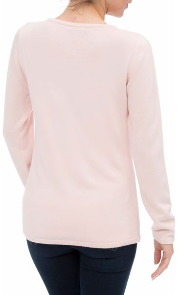 Anna Rose Cable Detail Knit Top Soft Pink - Gallery Image 3