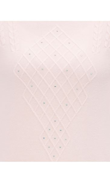 Anna Rose Cable Detail Knit Top Soft Pink - Gallery Image 4