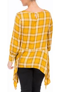 Check Dipped Hem Tunic