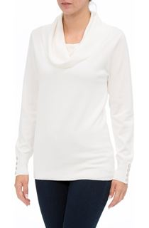 Cowl Neck Knit Top - Ivory