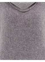 Cowl Neck Long Sleeve Chenille Top Grey - Gallery Image 4