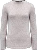 Lightweight Knitted Turtle Neck Top Grey Marl - Gallery Image 1