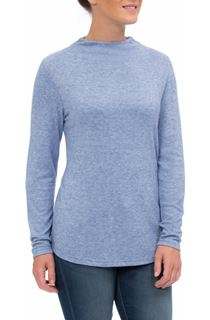 Lightweight Knitted Turtle Neck Top - Blue