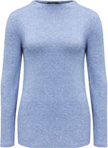 Lightweight Knitted Turtle Neck Top Ocean Blue - Gallery Image 1