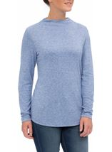Lightweight Knitted Turtle Neck Top Ocean Blue - Gallery Image 2