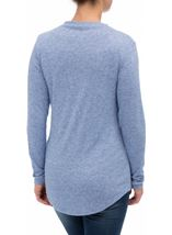 Lightweight Knitted Turtle Neck Top Ocean Blue - Gallery Image 3