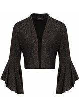 Bell Sleeve Sparkle Open Cover Up Black/Silver - Gallery Image 1