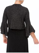 Bell Sleeve Sparkle Open Cover Up Black/Silver - Gallery Image 3