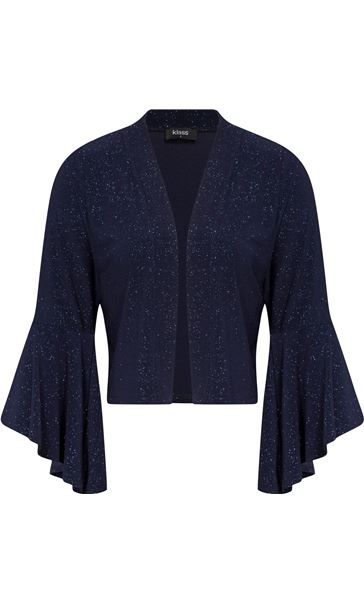 Bell Sleeve Sparkle Open Cover Up Midnight