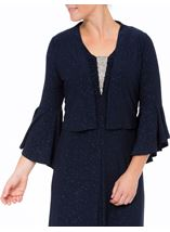 Bell Sleeve Sparkle Open Cover Up Midnight - Gallery Image 2