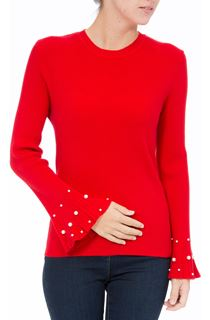 Embellished Knitted Long Sleeve Top