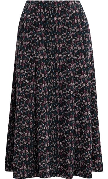 Anna Rose Panelled Printed Midi Skirt Multi