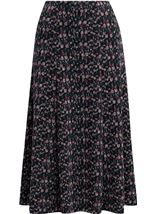 Anna Rose Panelled Printed Midi Skirt Multi - Gallery Image 1
