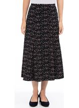 Anna Rose Panelled Printed Midi Skirt Multi - Gallery Image 2