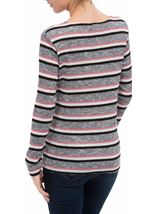 Anna Rose Stripe Knit Top Pink/Grey - Gallery Image 3