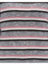 Anna Rose Stripe Knit Top Pink/Grey - Gallery Image 4