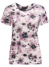 Anna Rose Watercolour Print Top Pink Multi - Gallery Image 1