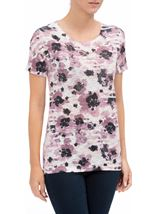 Anna Rose Watercolour Print Top Pink Multi - Gallery Image 2