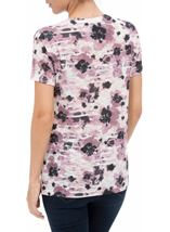 Anna Rose Watercolour Print Top Pink Multi - Gallery Image 3