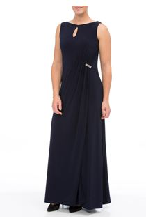 Sleeveless Gathered Maxi Dress