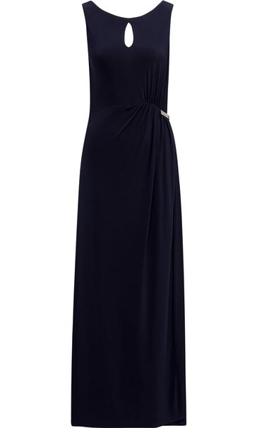 Sleeveless Gathered Maxi Dress Midnight