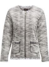 Anna Rose Raw Edge Zip Jacket Check - Gallery Image 1