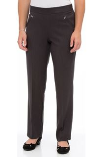 Anna Rose Straight Leg Trousers 29 inch - Grey
