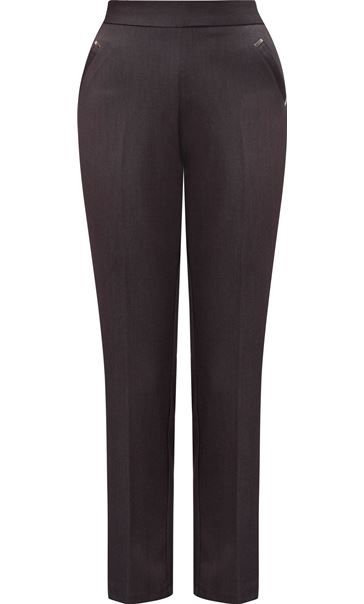 Anna Rose Straight Leg Trousers 29 inch Grey