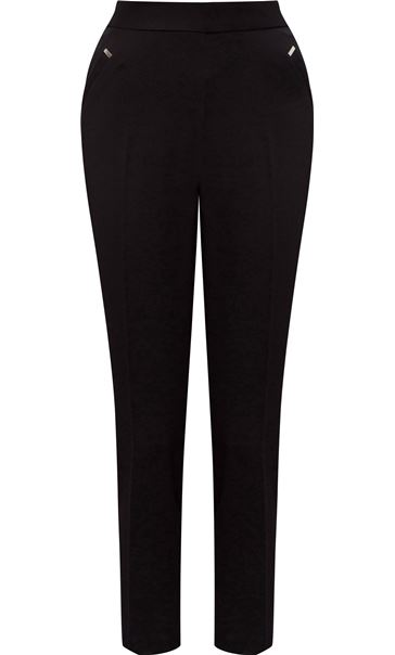 Anna Rose Straight Leg Trousers Black