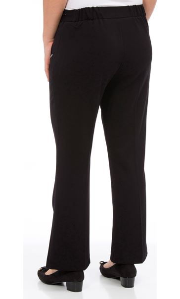 Anna Rose Slim Boot Leg Trousers Black - Gallery Image 3