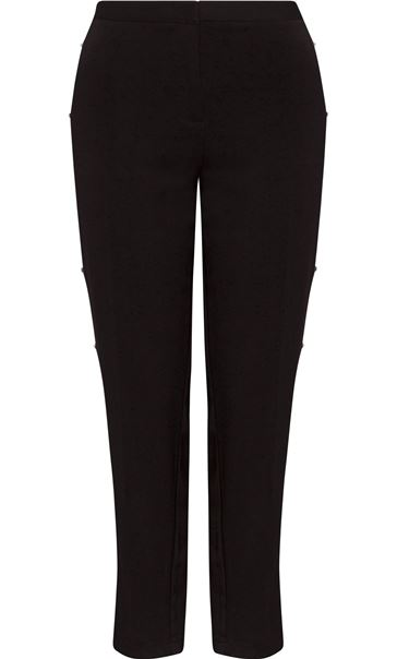 Tapered Embellished Trousers Black