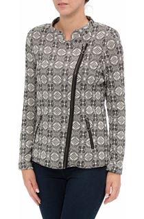 Unlined Asymmetric Zip Up Jacket