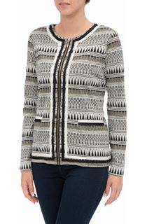 Unlined Patterned Zip jacket