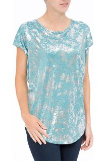 Loose Fit Foil Print Top