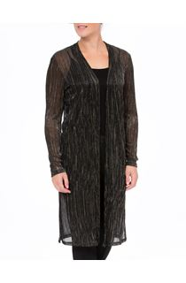 Longline Crinkle Shimmer Open Cover Up