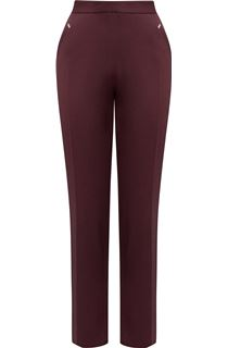 Anna Rose Straight Leg Trousers 29 inch - Grape