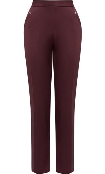 Anna Rose Straight Leg Trousers 29 inch Grape