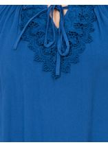 Crochet Trim Long Sleeve Top Blue - Gallery Image 4