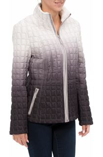 Ombre Quilted Zip Coat