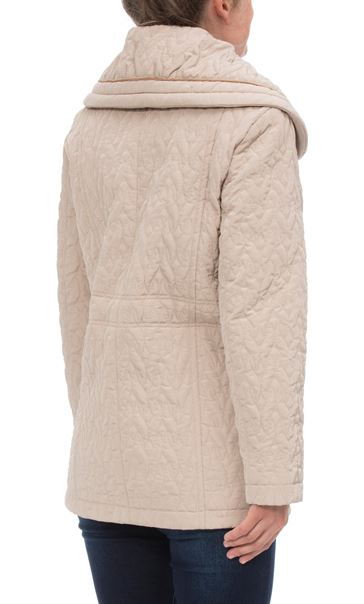 Anna Rose Shawl Collar Coat Pale Gold - Gallery Image 3