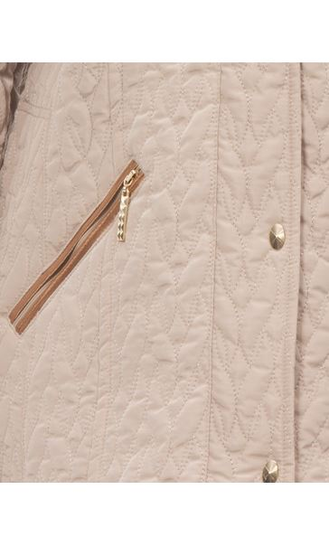 Anna Rose Shawl Collar Coat Pale Gold - Gallery Image 4