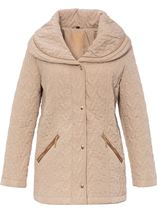 Anna Rose Shawl Collar Coat Pale Gold - Gallery Image 1