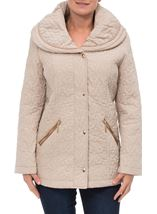 Anna Rose Shawl Collar Coat Pale Gold - Gallery Image 2