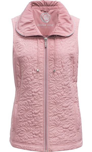 Anna Rose Quilted Gilet Rose