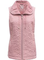Anna Rose Quilted Gilet Rose - Gallery Image 1