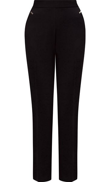 Anna Rose Straight Leg Trousers 27 inch Black