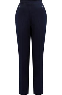 Anna Rose Straight Leg Trousers 27 inch - Navy