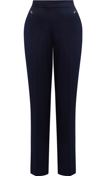 Anna Rose Straight Leg Trousers 27 inch Navy