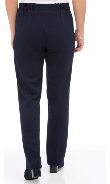 Anna Rose Straight Leg Trousers 27 inch Navy - Gallery Image 3